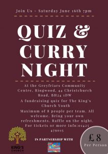 Curry & Quiz Night